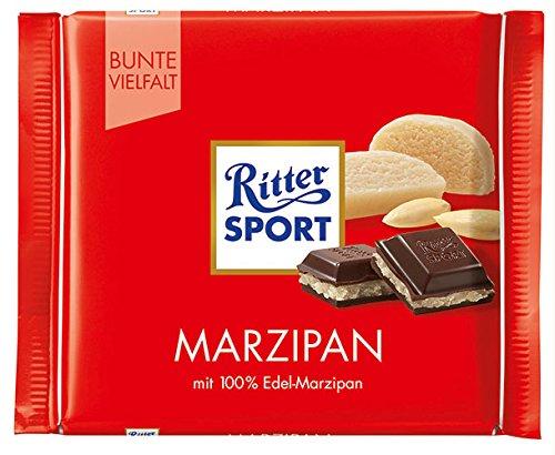 12x Ritter Sport - Bunte Vielfalt Marzipan - 100g