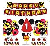 Decoraciones de cumpleaños de Mickey Mouse, Globos número para la Fiesta...