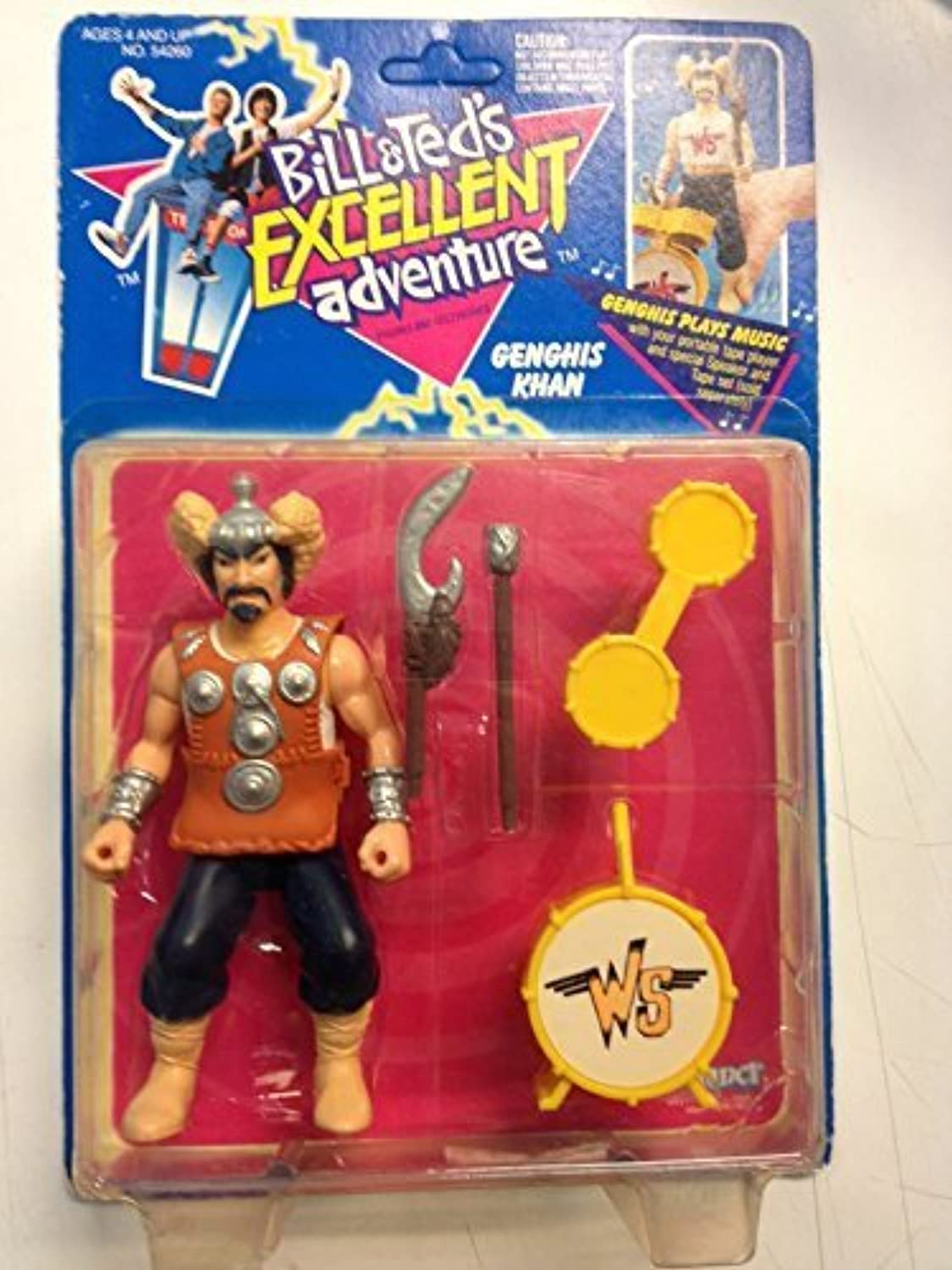 Bill & Ted's Excellent Adventure Genghis Khan Figure MOC 1991 Kenner by Bill and Ted's Excellent Adventure