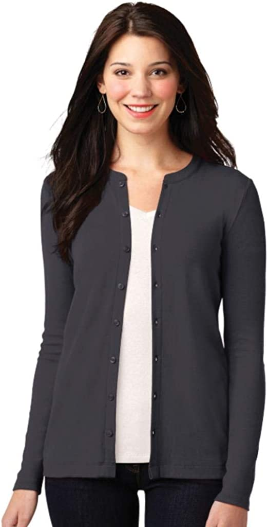 Monogrammed Women's Stretch Button Front Cardigan