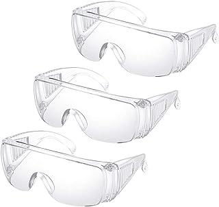 TOPBATHY 3pcs Safety Protective Glasses Anti-saliva Sneeze Spittle Splash Goggles Transparent Anti-fog Dust Eyewear Baffle...