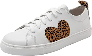 Women's Walking Sneakers Lace up White Tennis Shoes...