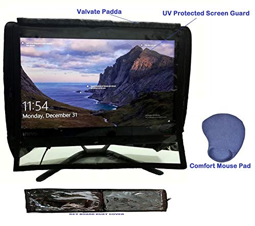 """Blufury® - 20"""" All-in-One Computer UV Protected Screen & Dust Cover with Key Board Cover & Comfort Mouse PAD"""