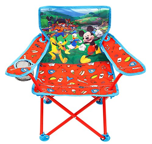 Mickey Mouse Camp Chair for Kids, Portable Camping Fold N Go Chair with Carry Bag