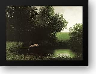 Diving Pig 32x24 Framed Art Print by Sowa, Michael