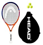 Head - Raquette de tennis junior «Radical» - 19, 21, 23, 25 ou 26 - avec 3 balles , 48 cm