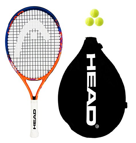 Head Radical Junior 19,21,23,25,26 raqueta de tenis + 3 Pelotas de tenis RRP £60 (2018), tamaño 19 inches