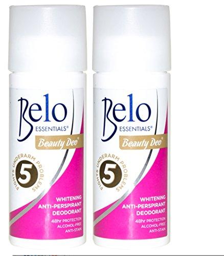 2 BELO ESSENTIALS Anti-Perspirant Whitening Deodorant 2 x 40ml (Large Size)