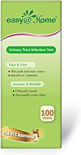 Easy@Home 100 Tests/Bottle Urinary Tract Infection UTI Test Strips, Monitor Bladder Urinary Tract Issues Testing Urine- FSA Eligible, FDA Approved for Over the Counter (OTC) USE, Urinalysis (UTI-100P)
