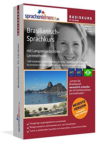 Brasilianisch Sprachkurs: Brasilianisches Portugiesisch lernen für Anfänger (A1/A2). Lernsoftware