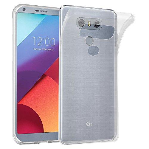 Cadorabo Custodia per LG G6 in TRANSPARENTE - Morbida Cover Protettiva Sottile di Silicone TPU con Bordo Protezione - Ultra Slim Case Antiurto Gel Back Bumper Guscio