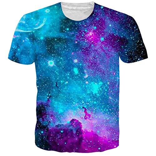 NEWISTAR Unisex Jugend 3D Druck Grafik Casual Kurzarm T-Shirt , Bear, S