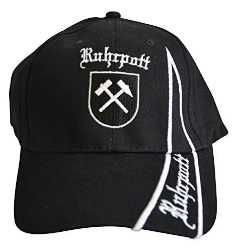 Flaggenfritze Kappe Motiv Deutschland Ruhrpott Ruhrgebiet Fahne, fan - Cap mit Pott Fahne