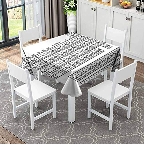 ZWARRT Durable Square Table Cloth Wear and Scratch Resistance Zebra Figure in Pink STRI (Square,165x165 inch) Table Protector for Kitchen Dining Party Wedding