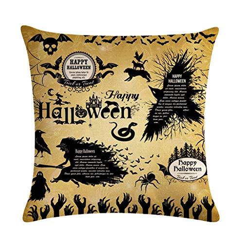 LQH Decorativos Halloween algodón de Lino Tirar Almohada Caso Las Letras de la Mano del Fantasma de la casa encantada del Partido Impreso Inicio Sofá Sofá Cojín