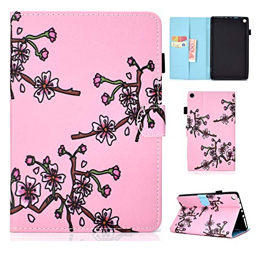 Uliking Case for Kindle Fire HD 8 Tablet (8th / 7th / 6th Generation, 2018/2017/2016 Release), PU Leather Slim Stand Case Protective Smart Cover with Auto Wake/Sleep for Amazon Fire HD 8, Floral