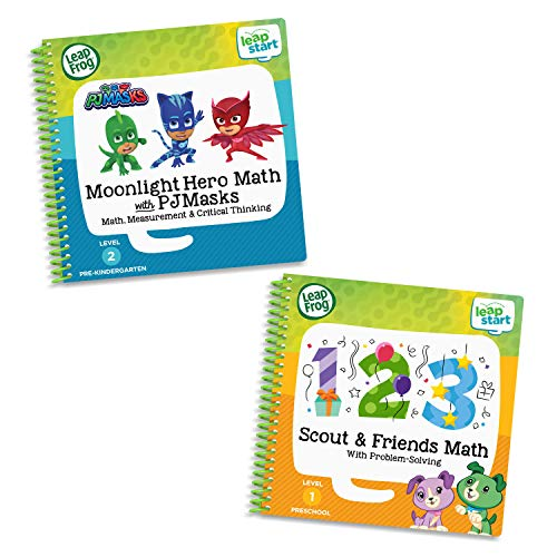 LeapFrog LeapStart 2 Book Combo Pack: Scout & Friends Math and Moonlight Hero Math with PJ Masks