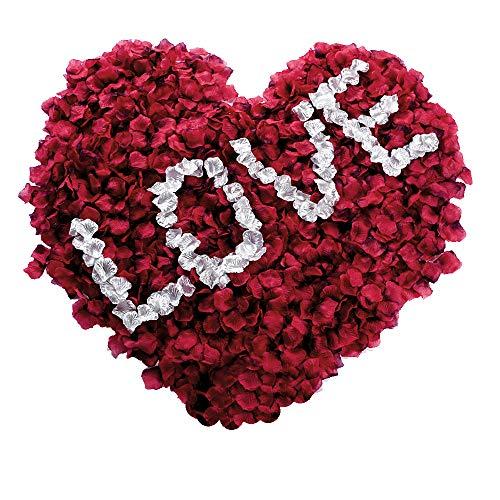 Eamoil Rosenblätter, Rosenblüten Rosenblätter Rosen Blätter Blüten Kunstblumen Seidenblumen für Hochzeit Deko, Valentinstag, Taufe, Geburtstag Party, Romantische Atmosphäre 6000 Stück
