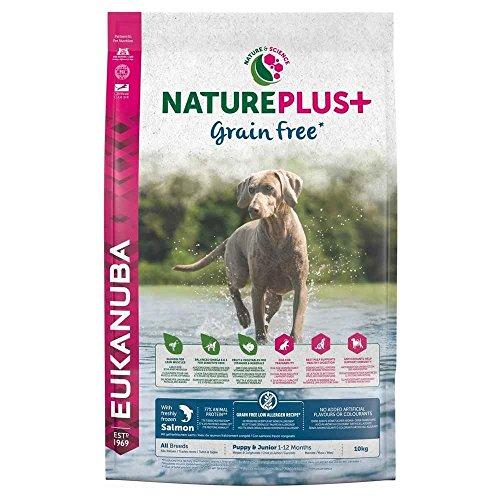 EUKANUBA NaturePlus+ Sin grano Cachorro y Junior Con salmón fresco congelado [10 kg] 🔥