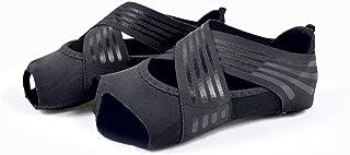VIKMKM, Zapatos Pilates Mujer, Calcetines Sin Dedos Antideslizantes para Yoga, Ballet, Fitness