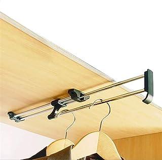 yxx Rack Placard Rail de vêtement de Pull-Out Simple, Tige de penderie Extensible, Tige de penderie (Size : 45cm/17.7inch)