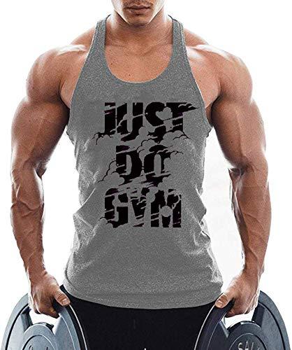 TX Apparel Camiseta de tirantes para hombre, sin mangas, para el gimnasio gris L