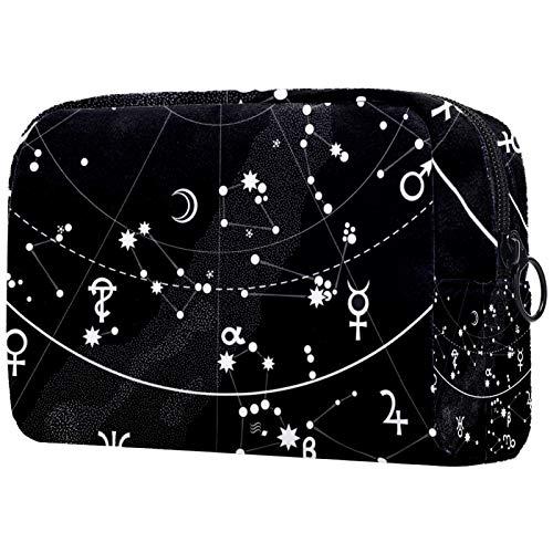 Neceser de Maquillaje Estuche Escolar para Cosméticos Bolsa de Aseo Grande Atlas astronómico del Cielo Nocturno