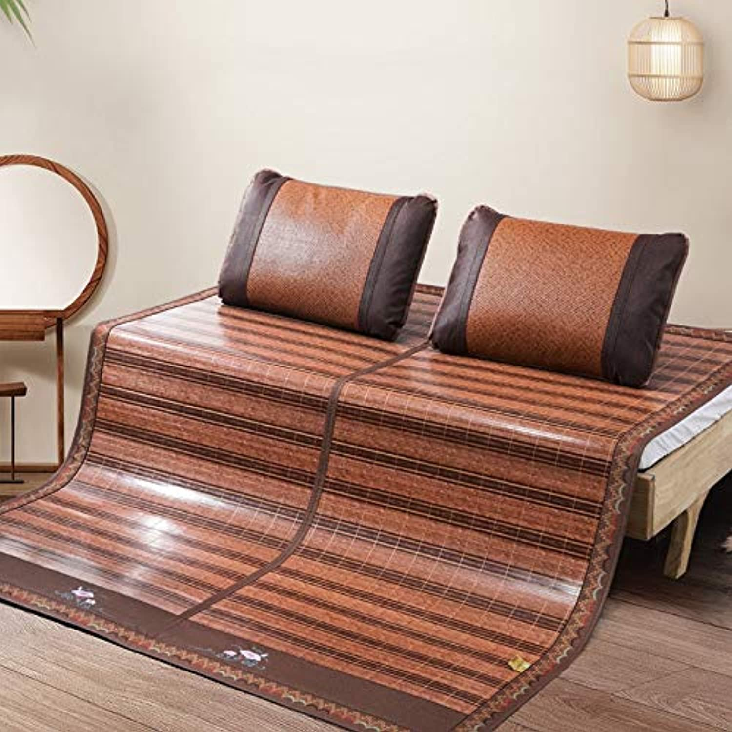 Mattress - Summer Bamboo Mat, Mat Folding Double-Sided Bamboo Mat Rattan Seats, One-seat Dual-use, Smooth and Stab-Free (Size   1.8x2m 70.9inx 78.7in)
