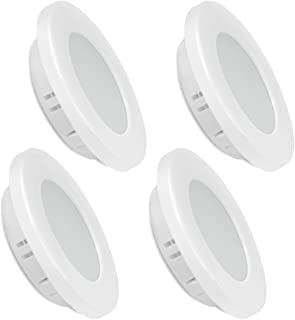 Dream Lighting Cool White 2.5W LED Recessed Under Cabinet Dome Light 70mm White Detachable Plated Down Lamps Vehicle Carav...