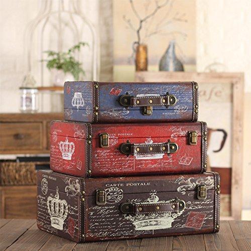 GFEI American Retro puntales de madera / maleta caja maleta hacer Old Antique decor / Decoracion / visualizacion de la ventana