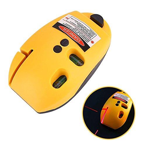 Tiptiper Medidor de Nivel de línea láser, Tipo de ratón, ángulo Recto, infrarrojo, Nivel láser, línea Vertical, línea, Herramienta de medición, Amarillo