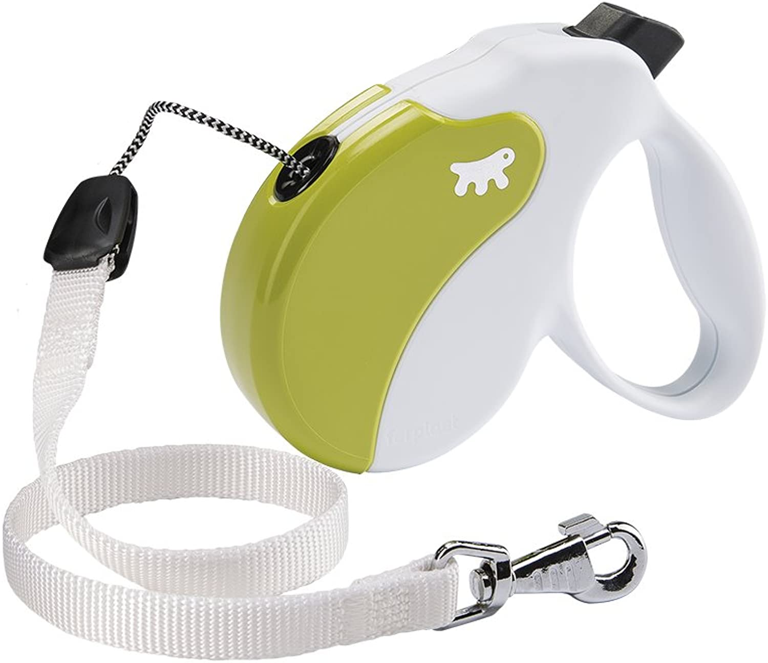 Ferplast AMIGO Cord Retractable Dog Lead, 5m,, Large, 16 x 3.8 x 15cm, , Large, White