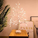 UPKNOW Tree Light, 84 Led Lights Tabletop Bonsai Battery and USB Operated Christmas Tree, Artificial Light Tree Lamp Decoration for Gift (2FT)