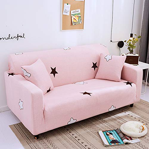 HUIJIE Sofa Cover Slipcovers,1/2/3/4 Seater Elastic Non-Slip Universal Sofa Cover Starry Sky Story Printed All-Inclusive Dust Stretch Protector Armchair Couch Cover,4,Seater 235,300Cm