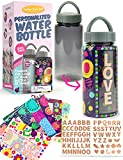 PURPLE LADYBUG Personalize Your Own Water Bottle for Girls Using Shrink Wraps with Unique Designs – Great Back to School Kids Water Bottle & Birthday Girl Gift Idea, Fun Arts and Crafts Activity