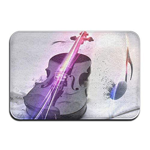 Klotr Tapis De Bain, Non-Slip Stain Fade Resistant Door Mat Color Violin Living Dining Room Rug 23.6 X 15.7 inch