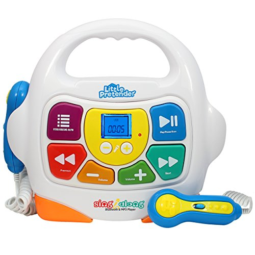 Little Pretender Kids Karaoke Machine - Sing Along MP3 Music Player with 2 Microphones - Plays...