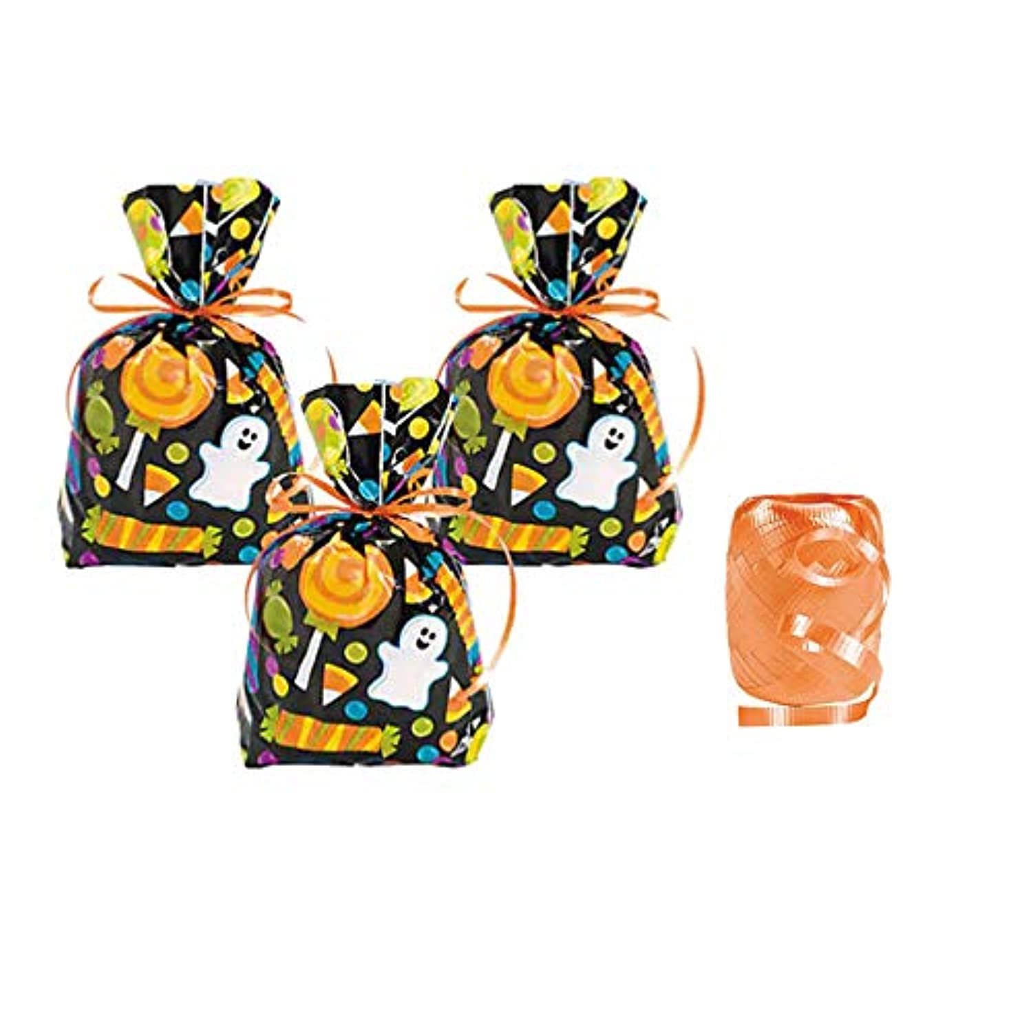 Halloween Goodie Bags - 24 Treat Bags with Ribbon Ties khh922252