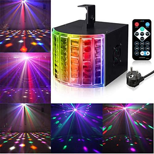 LED PAR Licht 4 Modus DJ Discolicht 6 Farbe LED Stroboskop Strahler Licht DMX Controller Lichteffekte Partybeleuchtung Strahler Bühnenbeleuchtung mit Fernbedienung, für DJ Party Bar Geburtstag