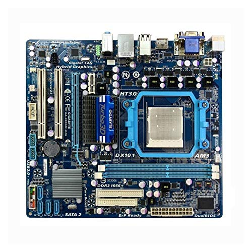 WERTYU Placa base para juegos GIGABYTE GA-880GM-D2H Socket AM3 DDR3 Desktop Motherboard