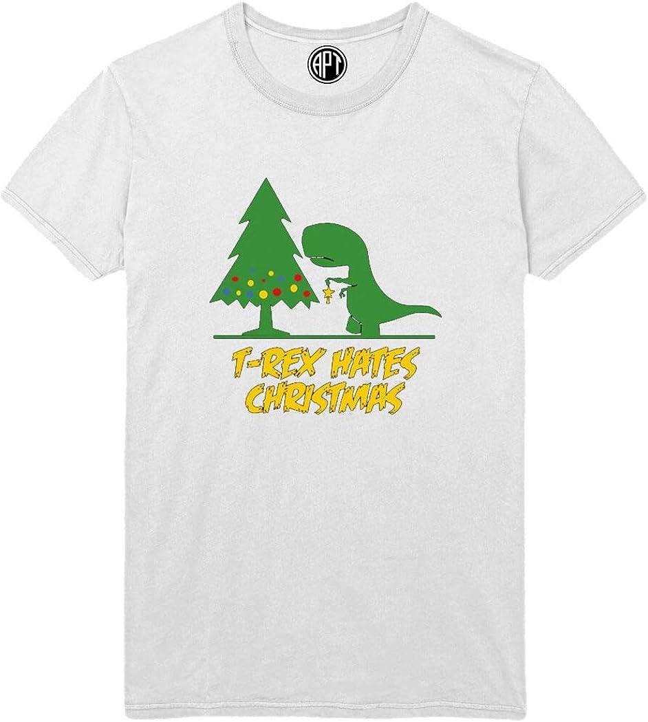 T-Rex Hates Christmas Printed T-Shirt