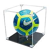 Ecometa Pilko Vitrina - Balón de fútbol, color negro brillante