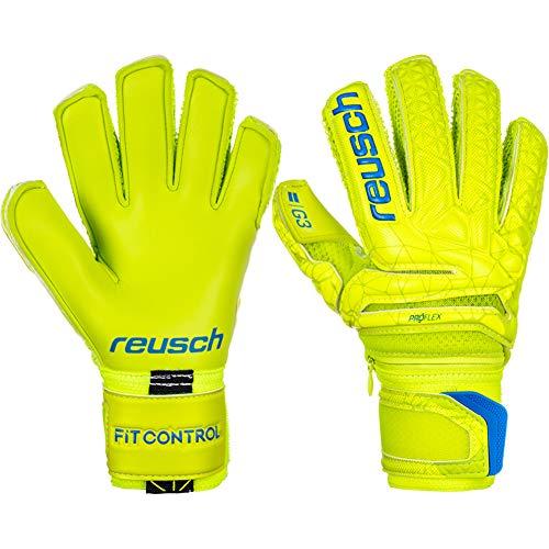 Reusch - Fußball-Spielerhandschuhe für Jungen in lime/Safety yellow, Größe 8