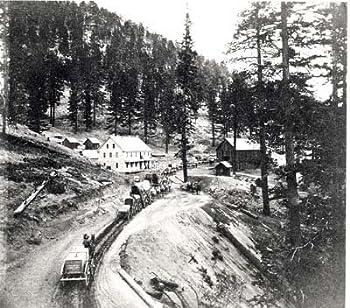 Photo Wagon Train Small Town c1890