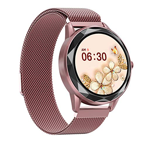 HQPCAHL Reloj Inteligente Mujer,Smartwatch Impermeable IP68 Pulsera Actividad 1.09 Pulgada con Monitor De Ritmo Cardíaco, Podómetro, Reloj Actividad,A