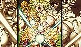 QZWXEC Anime Dragon Ball Super Saiyan Poster Kit de Pintura de...