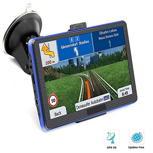 Price comparison product image Prymax 7 Inch GPS Navigation for Car,  Car GPS Navigation System with Touch Screen / 8GB Memory / Lifetime Map Update / Driving Alarm / Voice Steering