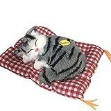 Naisicatar Plüsch-Katze, Simulation Spiele, sitzend schlafend, mit Sound, Modell Tierfigur,...