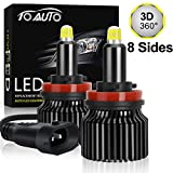 H11 H8 LED Headlight Bulbs, Newest Upgraded 8 Sides CSP Chips 360 Degree Lighting, High Beam Low Beam Fog Light Super Bright White 6000K 12000LM All-in-One Conversion Kit