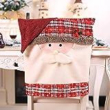 yilufa Decoraciones Navideñas Nuevas Sillas De Cuadros Creativos Juegos De Muebles Retro Decoración Suministros Navideños Los Ancianos voltearon la Cubierta de la